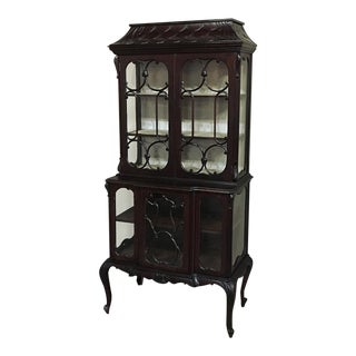 19th Century English Curio Cabinet For Sale