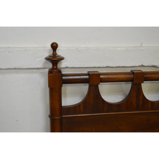 Brown Regency Style Vintage Mahogany Full Size Headboard by Morganton For Sale - Image 8 of 10