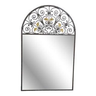 Casa Bique Hand Hammered Iron & Brass Mirror