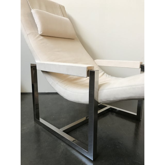 Ralph Lauren Home Loft Leather Chaise - Image 3 of 8