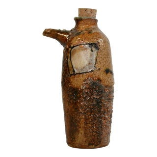 Folk Art Studio A Pottery Jar/Oil Dispenser For Sale