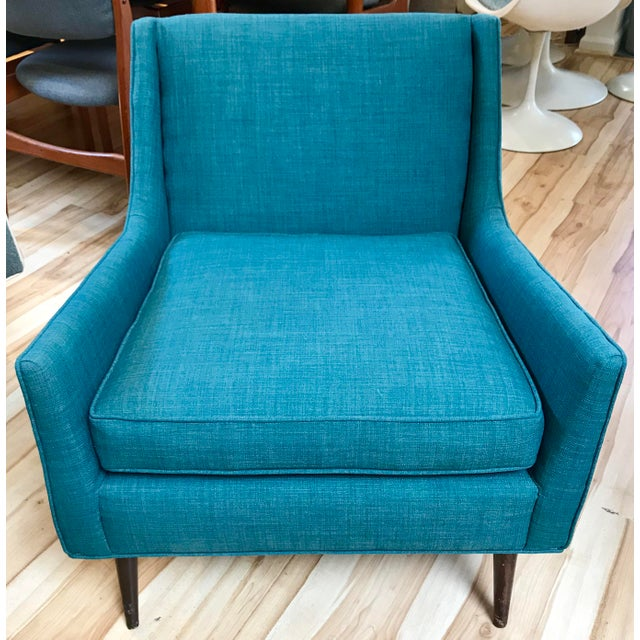 1950s mid-century modern lounge chair designed by Paul McCobb. The chair has been professionally reupholstered in new...