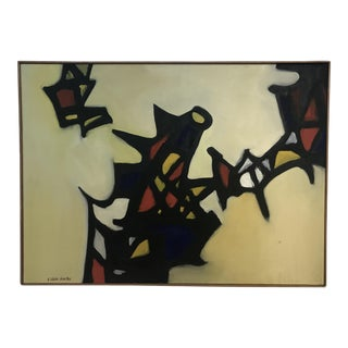1960s Abstract Painting by Arnold Weber For Sale