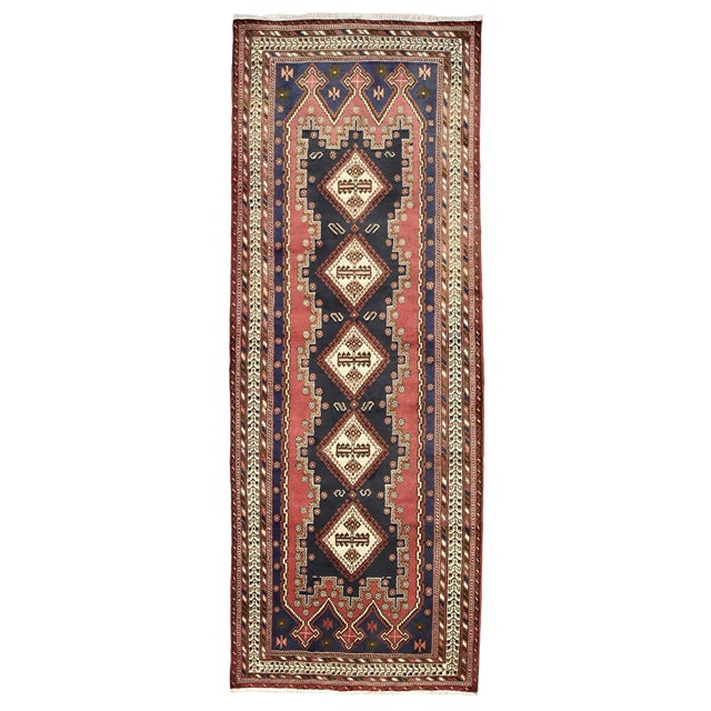 Persian Afshar Runner - 3'5'' X 9'3'' For Sale