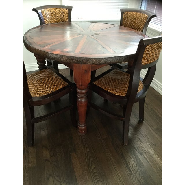 Vintage Style Wooden Dining Set - Image 6 of 7