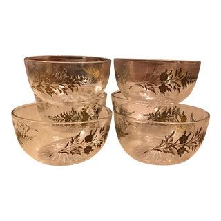 Embossed Glass Salad Bowls - Set of 6