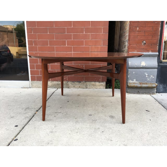 Brown Mahogany Mid-Century Cocktail Table For Sale - Image 8 of 12