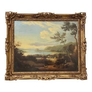 Julius Caesar Ibbetson (1759-1817) English Landscape With Figures C.1800 For Sale