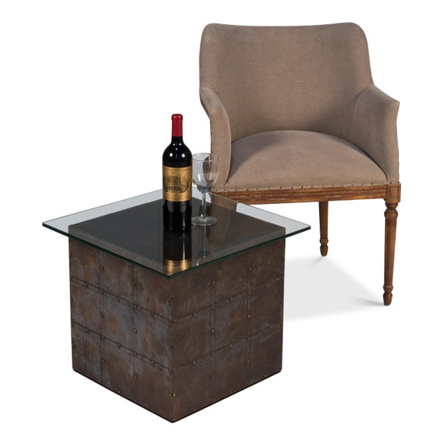 Early 21st Century Holbrook Brass Cube With Glass Top For Sale - Image 5 of 6