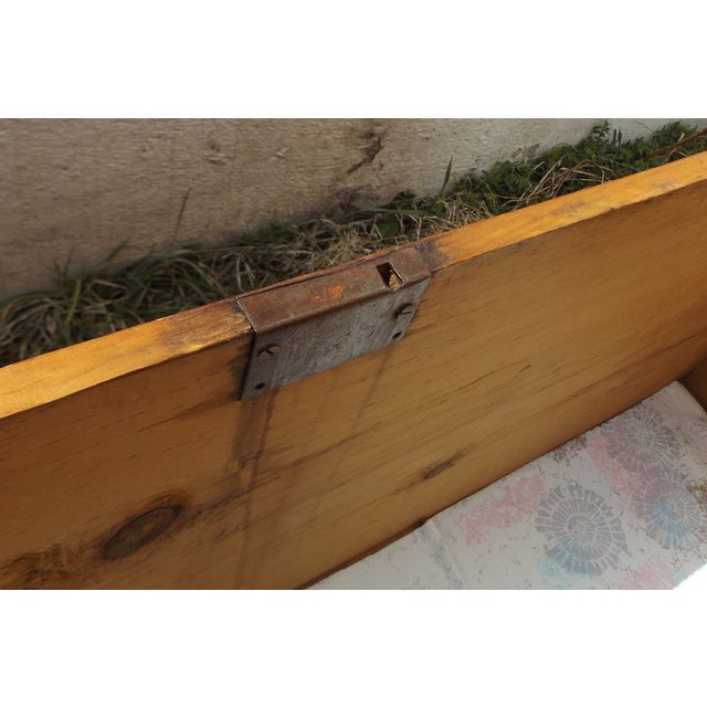 Primitive Antique Dovetailed Pine Hope Chest For Sale - Image 10 of 10