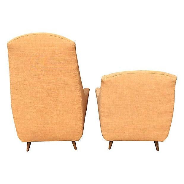 Mid-Century Modern Mid-Century Modern Adrian Pearsall His & Hers Lounge Chairs - A Pair For Sale - Image 3 of 5