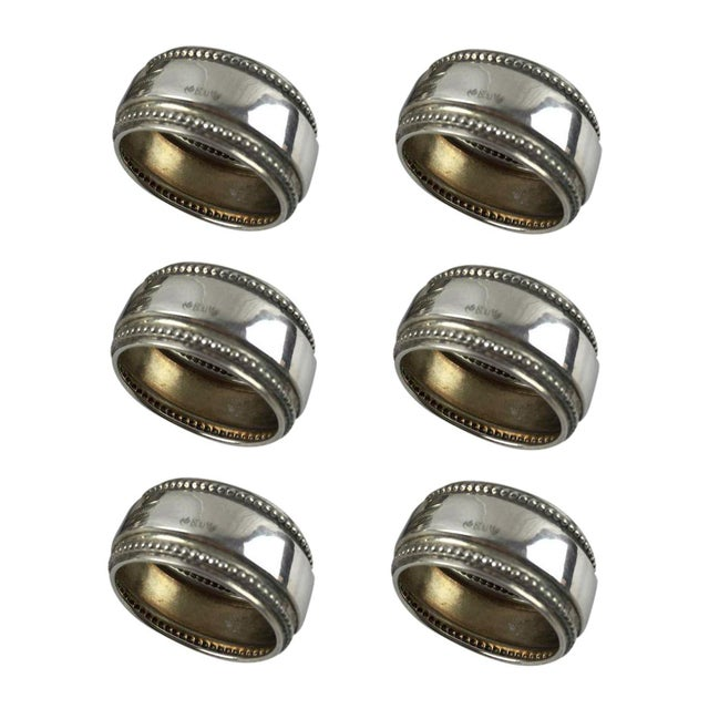 Antique Silver Napkin Rings - Set of 6 - Image 1 of 7