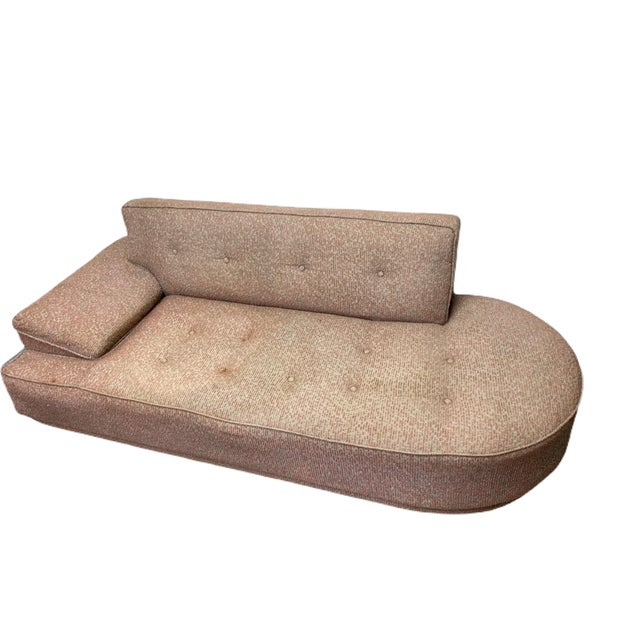 Vintage 1950's Mid-Century Modern Fainting Couch For Sale - Image 4 of 13