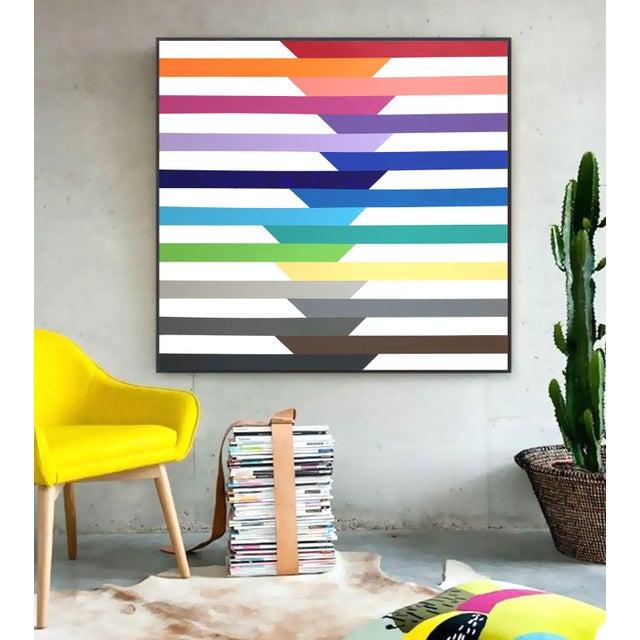 'Spectra' Original Op Art Painting by Linnea Heide For Sale - Image 6 of 8