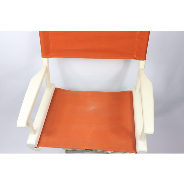 1960s Vintage Telescope Foldable Folding Directors Patio Chair For Sale - Image 4 of 10