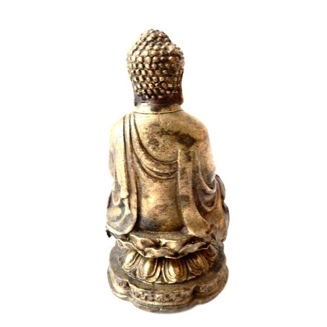 Brass Meditating Serenity Calming Buddha - Image 2 of 7