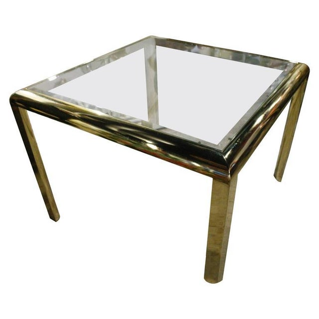 Vintage Brass Dining Table Game Table For Sale - Image 10 of 10