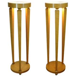 Mid 20th C. Vintage Biedermeier Style Bronze Column Pedestals- A Pair For Sale
