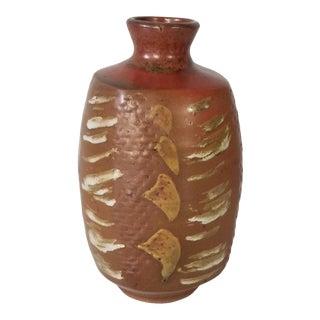 1990s Atroms Brown Glazed Studio Pottery Vase For Sale