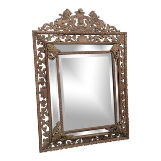 Victorian Style Carved Wall Mirror For Sale