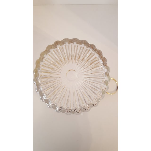 Hollywood Regency Vintage Crystal and Brass Champagne Bucket For Sale - Image 4 of 5