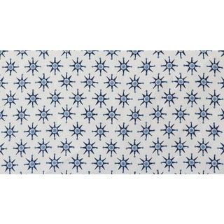 Virginia Kraft Prinz Fabric, 3 Yards in Indigo/Dark Indigo For Sale