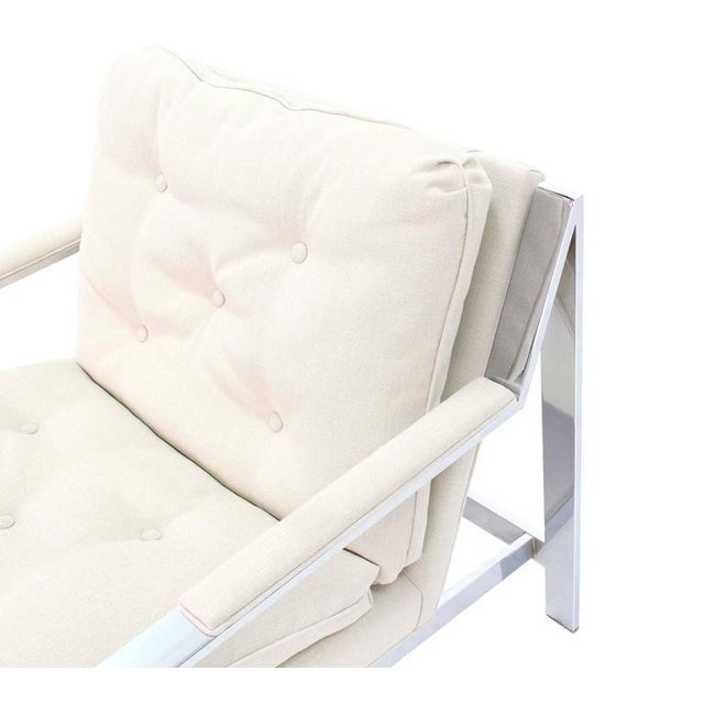 Mid-Century Modern Baughman New Upholstery Lounge Chair For Sale - Image 3 of 8