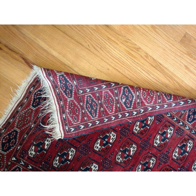 Textile Antique North Indian Wool Area Rug - 3′6″ × 5′4″ For Sale - Image 7 of 8