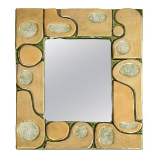 Jeweled Mirror by Francois Lembo For Sale