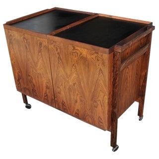 Midcentury Danish Rosewood Bar Cart by Niels Erik Glasdam Jensen for Vantinge For Sale
