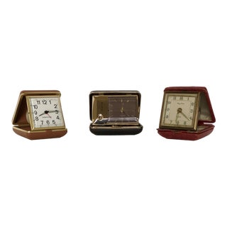 Vintage Travel Clocks - Set of 3