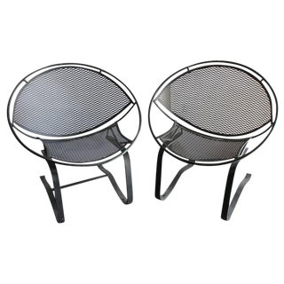 "Salterini Mid-Century ""Radar"" Garden Chairs- A Pair For Sale"