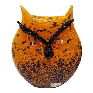 Contemporary Murano Glass Owl For Sale