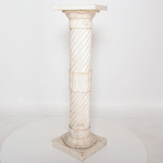 Antique Italian Pedestal Marble Table For Sale - Image 11 of 11
