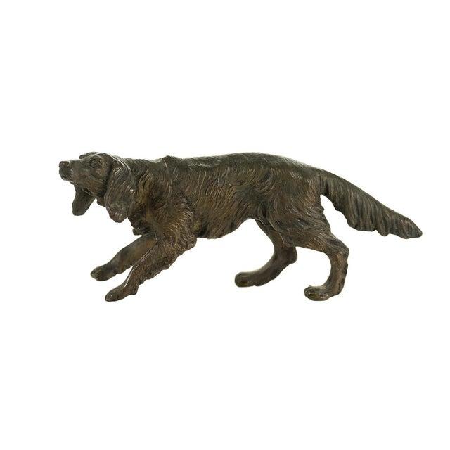 Cabin Vintage Austrian Bronze Setter Dog Figurine For Sale - Image 3 of 9