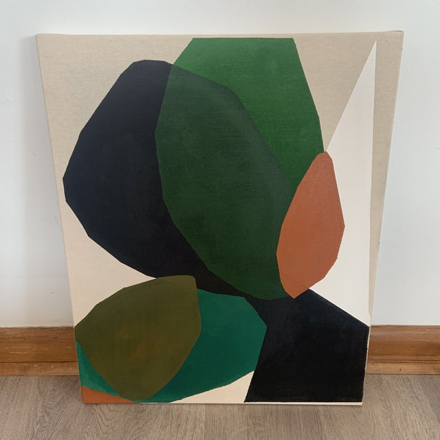 Canvas Contemporary Modern Abstract Acrylic Painting by Ross Severson For Sale - Image 7 of 7