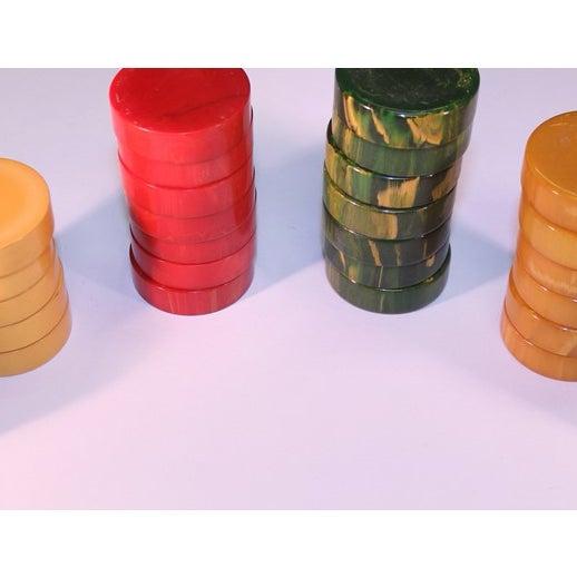 Traditional Vintage Bakelite Backgammon Chips - Set of 35 For Sale - Image 3 of 3