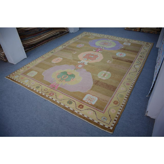 Textile Oversized Hand Knotted Turkish Contemporary Wool Rug For Sale - Image 7 of 9