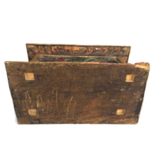 Vintage Balinese Alter Wood Carved Offering Box For Sale - Image 11 of 13