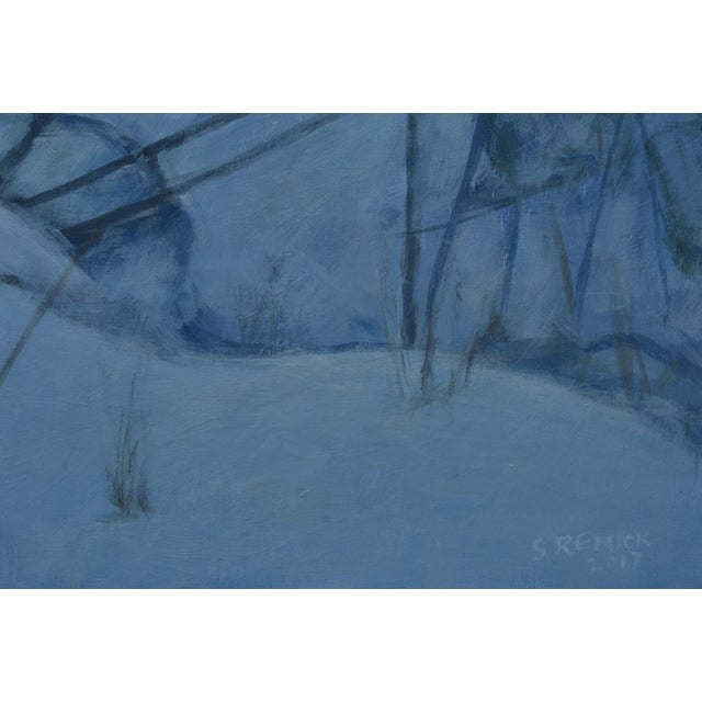 """Stephen Remick """"Dusk in Winter by the Brook"""" Painting For Sale In Providence - Image 6 of 9"""