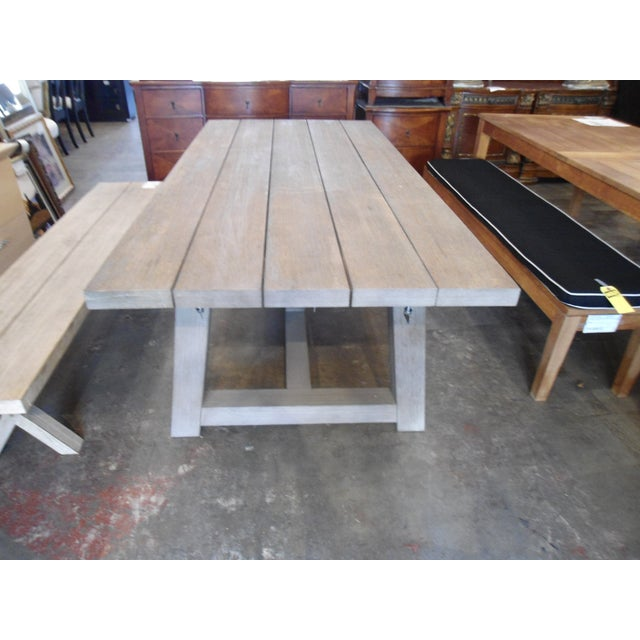 French Restoration Hardware French Teak Dining Table For Sale - Image 3 of 4