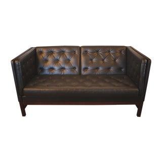 Erik Jørgensen Black Leather Sofa For Sale