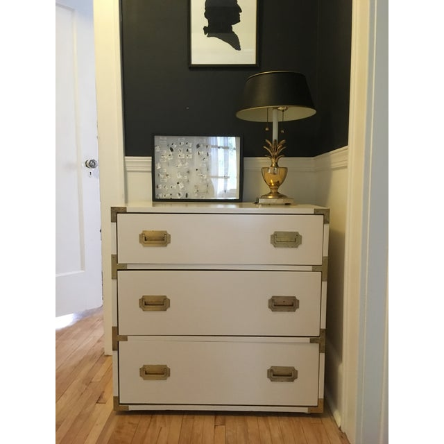 Gold Campaign Schoolfield Industries Hickory White Chest of Drawers For Sale - Image 8 of 9