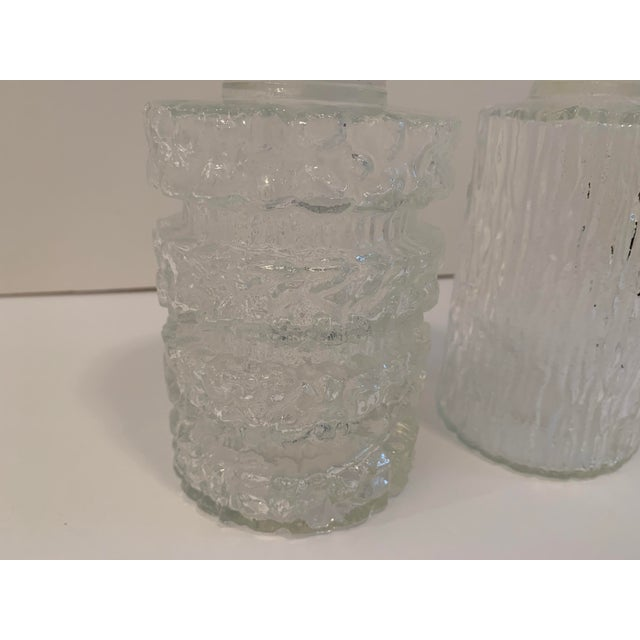 Brutalist Brutalist Glass Decanters - a Pair For Sale - Image 3 of 11