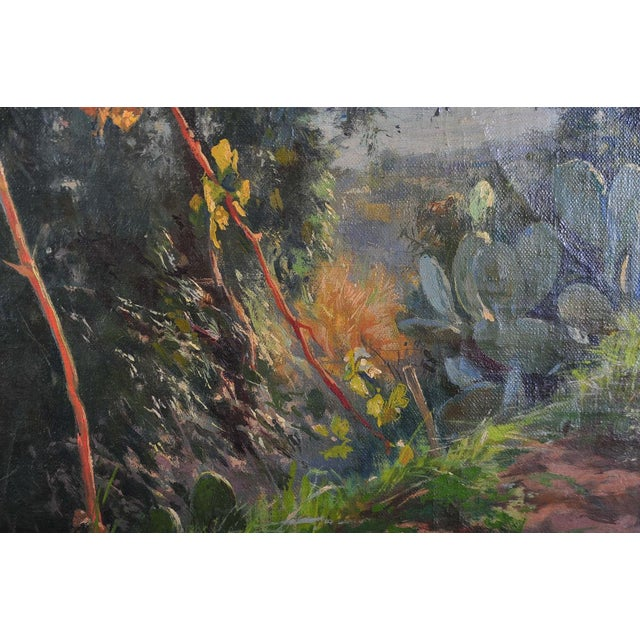 Italian Countryside Landscape C.1900 Oil Painting For Sale In Los Angeles - Image 6 of 9