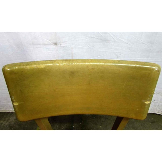 Industrial Solid Maple School Chair For Sale - Image 3 of 10