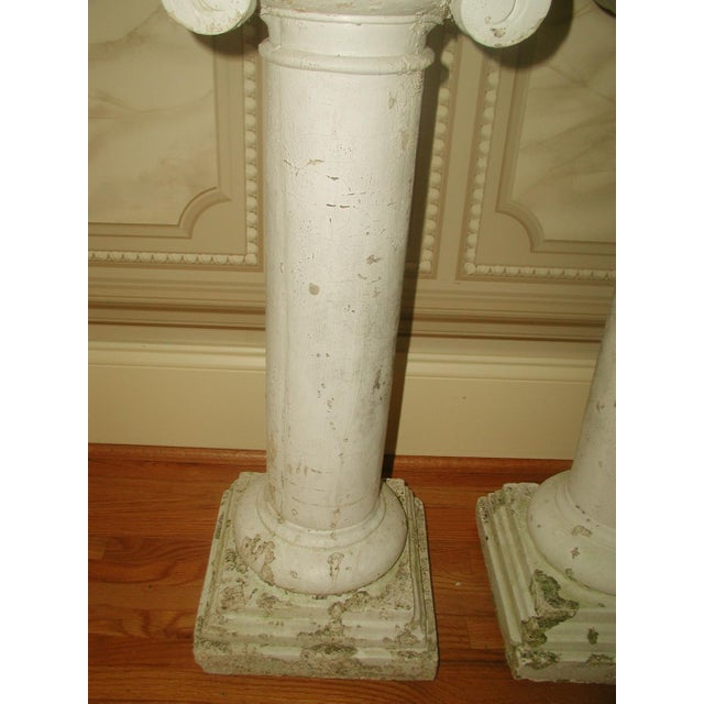 Neoclassical 1950s Neoclassical Plaster Architectural Garden Columns - a Pair For Sale - Image 3 of 8