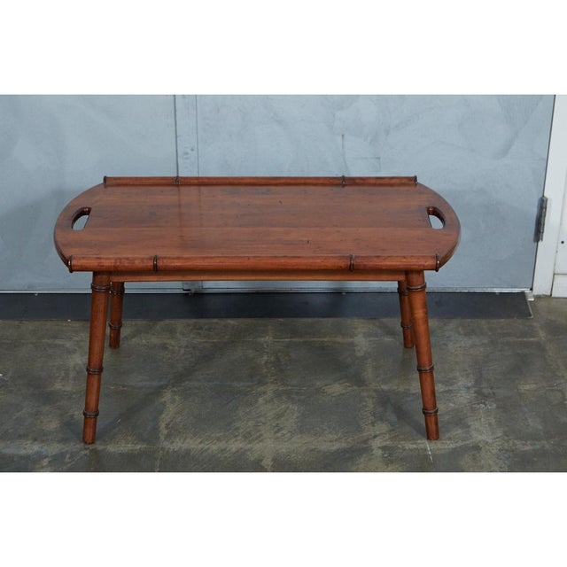 Mid-Century Modern Mid-Century Faux Bamboo Coffee Table For Sale - Image 3 of 6