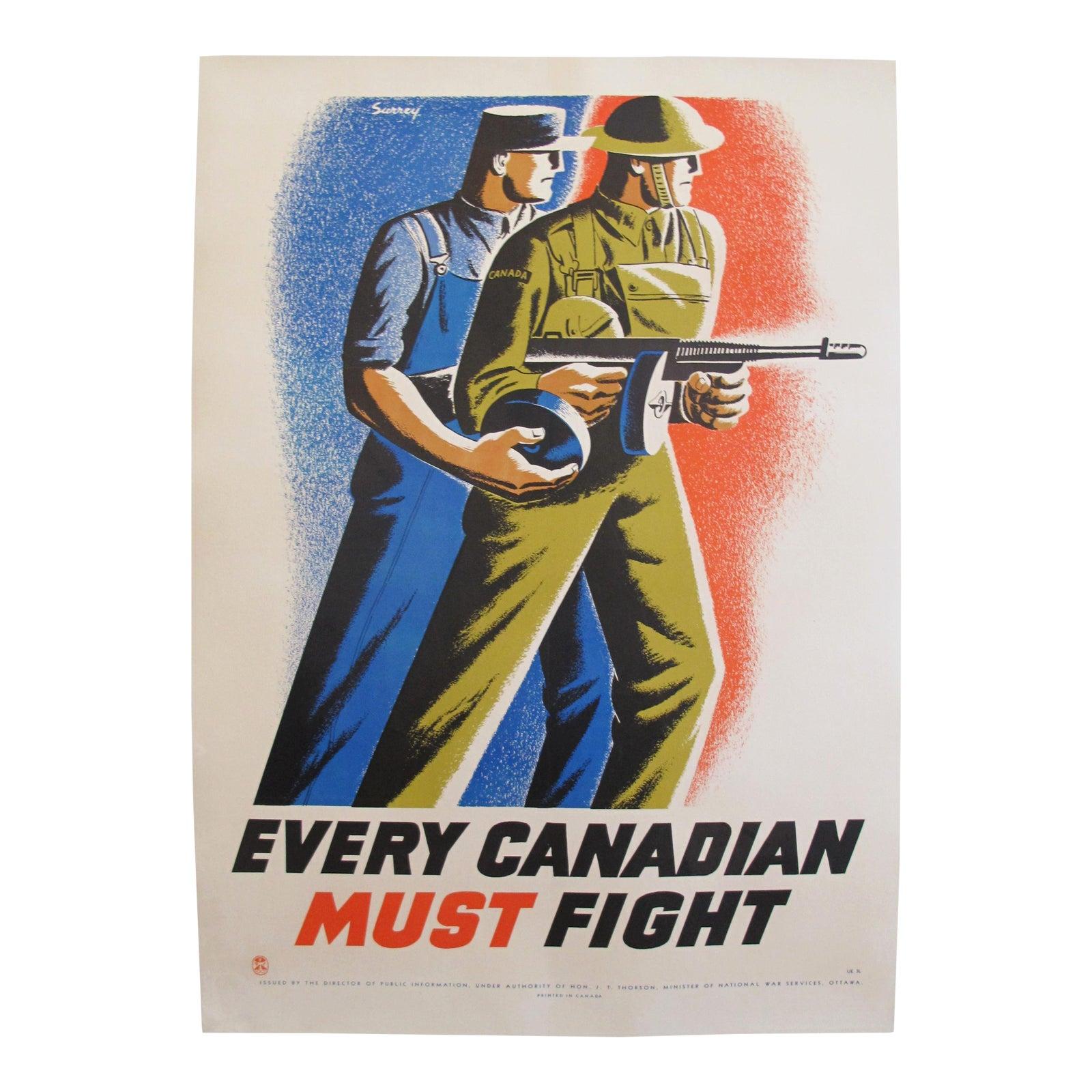 1940 S Original Canadian Ww2 Propaganda Poster Every