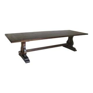 Custom Walnut Wood Trestle Table For Sale